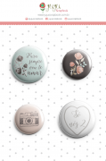 Bottons Para Sempre - Coleção Felizes Para Sempre - JuJu Scrapbook