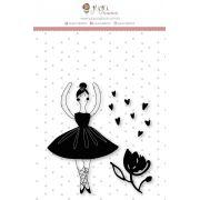 Carimbo G Bailarina - Coleção Mundo Mágico - JuJu Scrapbook
