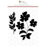 Carimbo G Flores - Coleção Felizes para Sempre - JuJu Scrapbook