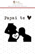 Carimbo G Papai Te Ama - Coleção Meu Coração é Seu - JuJu Scrapbook