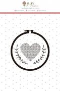 Carimbo M Coração Bordado - Coleção Meu Coração é Seu - JuJu Scrapbook
