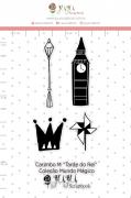 Carimbo M Tarde do Rei - Coleção Mundo Mágico - JuJu Scrapbook