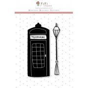 Carimbo XG Cabine Telefônica - Coleção Mundo Mágico - JuJu Scrapbook