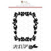 Carimbo XG Moldura RSVP - Coleção Felizes para Sempre - JuJu Scrapbook
