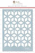 Stencil Arabesco Geométrico - Coleção Quarentena Criativa - Juju Scrapbook