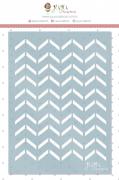 Stencil Chevron Geométrico - Coleção Quarentena Criativa - Juju Scrapbook