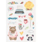 Adesivo Você + Eu - Coleção Abraço de Urso - JuJu Scrapbook