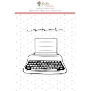 Carimbo G Máquina de Escrever - Coleção Abraço de Urso - JuJu Scrapbook