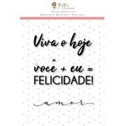 """Coleção Abraço de Urso by Estúdio 812 - Carimbo M """"Felicidade"""" / JuJu Scrapbook"""
