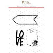 Carimbo M Love - Coleção Abraço de Urso - JuJu Scrapbook