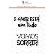 """Coleção Abraço de Urso by Estúdio 812 - Carimbo M """"Vamos Sorrir"""" / JuJu Scrapbook"""