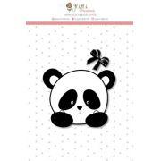 Carimbo Mini Panda - Coleção Abraço de Urso - JuJu Scrapbook
