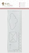 Régua de Costura Nuvem - Coleção Abraço de Urso - JuJu Scrapbook