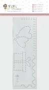 Régua de Costura Presente - Coleção Abraço de Urso - JuJu Scrapbook