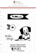 Carimbo G Best Friends - Coleção Amizade é Tudo - JuJu Scrapbook