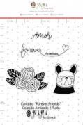 Carimbo G Forever Friends - Coleção Amizade é Tudo - JuJu Scrapbook