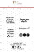 Carimbo M BFF - Coleção Amizade é Tudo - JuJu Scrapbook