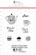 Carimbo M Chá da Tarde - Coleção Amizade é Tudo - JuJu Scrapbook