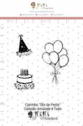 Carimbo M Dia de Festa - Coleção Amizade é Tudo - JuJu Scrapbook