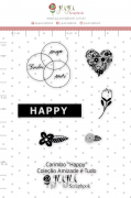 Carimbo M Happy - Coleção Amizade é Tudo - JuJu Scrapbook