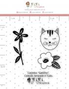 Carimbo Mini Gatinho - Coleção Amizade é Tudo - JuJu Scrapbook