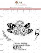 Carimbo Mini Rosinhas - Coleção Amizade é Tudo - JuJu Scrapbook
