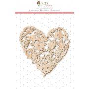 Enfeite Pinus Coração - Coleção Amizade é Tudo - JuJu Scrapbook