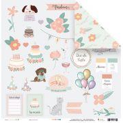 Papel Lista de desejos - Coleção Amizade é Tudo - JuJu Scrapbook