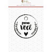 Carimbo Mini Para Você - Coleção Love Scrap - JuJu Scrapbook
