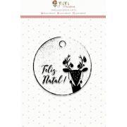 Carimbo Mini Feliz Natal - Coleção Noite Feliz - JuJu Scrapbook