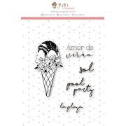 Carimbo G Amor de Verão - Coleção Paraíso Tropical - JuJu Scrapbook