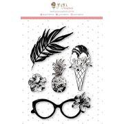 Carimbo G De Olho no Sorvete - Coleção Paraíso Tropical - JuJu Scrapbook