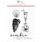 Carimbo G Sombra e Água Fresca - Coleção Paraíso Tropical - JuJu Scrapbook