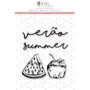 Carimbo G Verão - Coleção Paraíso Tropical - JuJu Scrapbook