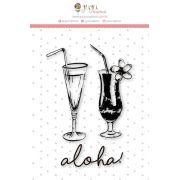 Carimbo M Bons Drinks - Coleção Paraíso Tropical - JuJu Scrapbook