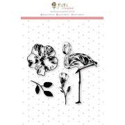 Carimbo M Flamingo - Coleção Paraíso Tropical - JuJu Scrapbook