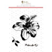 Carimbo Mini Amor Floral - Coleção Paraíso Tropical - JuJu Scrapbook