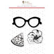 Carimbo Mini De Olho na Fruta - Coleção Paraíso Tropical - JuJu Scrapbook