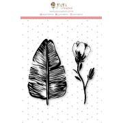 Carimbo Mini Jardim de Verão - Coleção Paraíso Tropical - JuJu Scrapbook