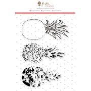 Carimbo XG Abacaxi em Camadas - Coleção Paraíso Tropical - JuJu Scrapbook
