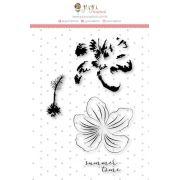Carimbo XG Flor em Camadas - Coleção Paraíso Tropical - JuJu Scrapbook