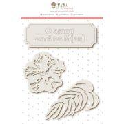 Enfeite Chipboard Branco O Amor está no M(ar) - Coleção Paraíso Tropical - JuJu Scrapbook