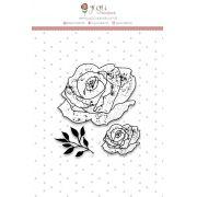 Carimbo G Rosas - Coleção Shabby Dreams - JuJu Scrapbook