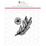 Carimbo Mini Folhinhas - Coleção Shabby Dreams - JuJu Scrapbook
