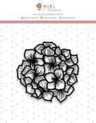 Carimbo Mini Hortência - Coleção Shabby Dreams - JuJu Scrapbook