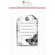 Carimbo G Tag Borboleta - Coleção Shabby Dreams - JuJu Scrapbook