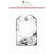 Carimbo XG Tag Rosas - Coleção Shabby Dreams - JuJu Scrapbook