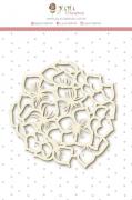Enfeite Chipboard Branco Hortência - Coleção Shabby Dreams - JuJu Scrapbook