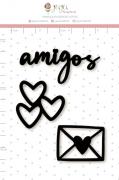 Enfeite Blackboard Amigos - Coleção Cartas para Você - Juju Scrapbook