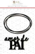 Enfeite Blackboard Amor de Pai - Coleção Nosso Herói - Juju Scrapbook